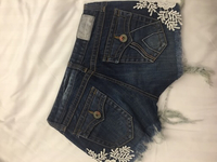 Brand new shorts with lace patches