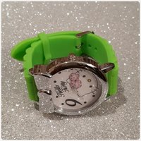 Green hello kitty watch