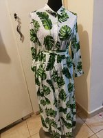 Green leaf buttons patpat maxi dress