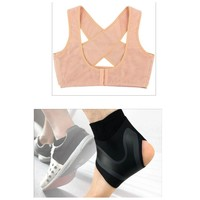Used Chest supporter (L) + ankle brace (L) in Dubai, UAE