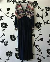 Dress Cotton Long New Dark Blue Colourful Medium To Large Soft Fabric