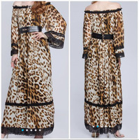 Used Leopard Print Long Dress in Dubai, UAE