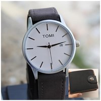 Used Original TOMI Watch +Leather Wallet◇FREE in Dubai, UAE
