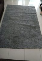 Used Ikea Big Grey Fur carpet good condition in Dubai, UAE