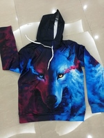 Used New 3D sweatshirt wolf print size L in Dubai, UAE