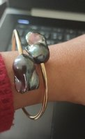 Authentic fresh water pearl bangle