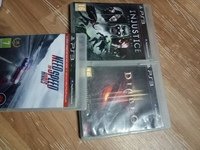Used Ps3 need for speed rivals+injustice+diab in Dubai, UAE