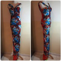 Used Printed long dress brand new in Dubai, UAE