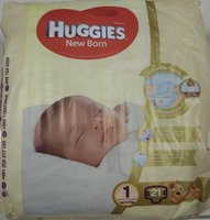 Used Huggies new born 21 diapers x 2 pack in Dubai, UAE