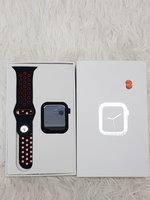 Used Smart watch W5. New red in Dubai, UAE