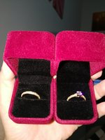 2 wedding golden rings for him and her