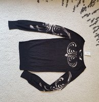 New Bebe black shiny top Size XS