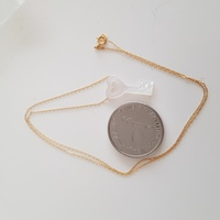 New real gold necklace with mother of pe