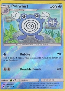 Used Poliwhirl PSA 7-8 reverse hollow 38/214 in Dubai, UAE