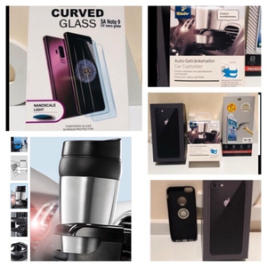 Used iPhone 7 screen Protector & cup holder.. in Dubai, UAE