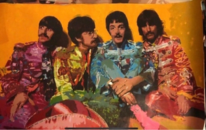 Used The Beatles big size handmade painting  in Dubai, UAE