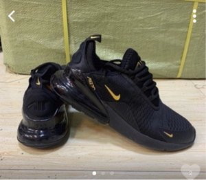 Used Nike Airmax 270 size 43, black/gold in Dubai, UAE