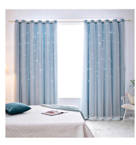 Used Hollow Star Lace Curtain 1.2*1.5 Grey in Dubai, UAE