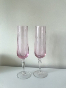 Used Champagne glasses 2pcs and 6 glasses  in Dubai, UAE