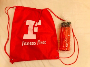 Used Bag and water bottle from fitnessfirst in Dubai, UAE