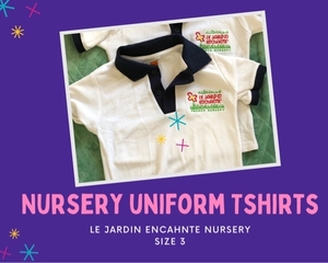 Used 2 x Uniform T-shirt le jardin enchante in Dubai, UAE