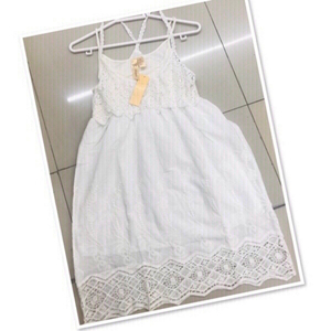 Used White embroidered Dress / Small ♥️ in Dubai, UAE