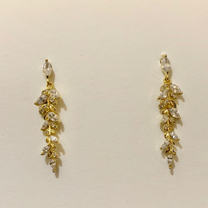 Used Stud Earring Leaves Coated with 14k gold in Dubai, UAE