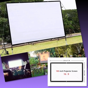 Used FABRIC PROJECTOR SCREEN/ 100 inch/ 16:9 in Dubai, UAE