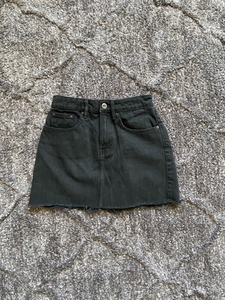 Used Zara Black Denim Skirt in Dubai, UAE