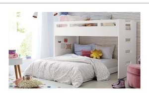 Used White bunk bed with slide in Dubai, UAE