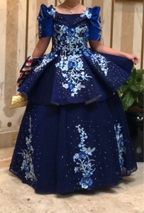 Used Blue Evening Gown (with beads) in Dubai, UAE