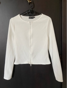 Used PrettyLittleThing White Double Zip Top in Dubai, UAE