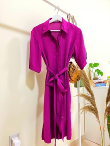 Used Purple Dress : Mango, XS in Dubai, UAE
