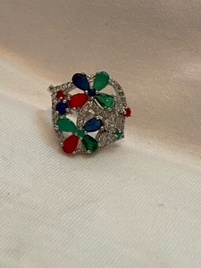 Used 925 Sterling silver ring semiprecious  in Dubai, UAE