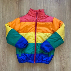 Used Rainbow puffer jacket 🌈  in Dubai, UAE