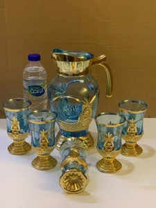 Used Juice/water DECANTER with 5 glasses  in Dubai, UAE