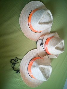 Used 3 New hats. Natural. From Vietnam in Dubai, UAE