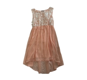 Used Short Peach Color Dress Size M in Dubai, UAE