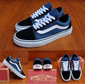 Used Vans sneakers blue/black size 43 in Dubai, UAE