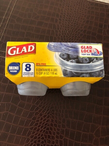 Used Glad look with lids 8 pcs new  in Dubai, UAE