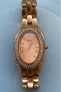 Used Chopard watch rose gold with crystals in Dubai, UAE