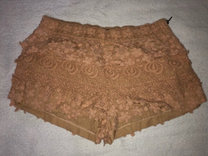 Used Zara Brown Lace Shorts  in Dubai, UAE