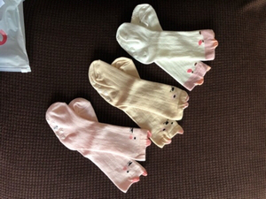 Used 3 pair ant slip baby socks size S in Dubai, UAE