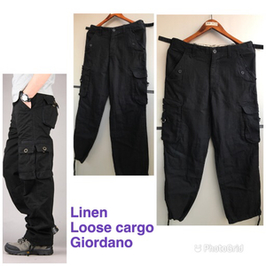 Used Linen cargo pants  for men sizeM in Dubai, UAE