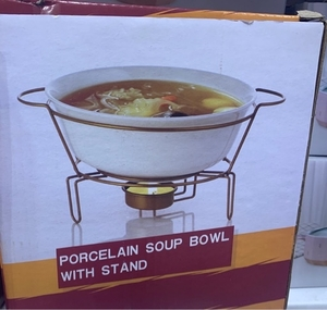 Used Soup bowl with stand - New- Never used in Dubai, UAE