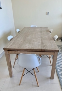 Used 1 x Habitat Oak Dining Table 2m x 1m in Dubai, UAE