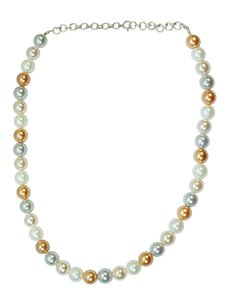 Used WhiteFresh water pearl silver necklace in Dubai, UAE