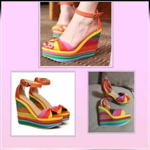 Used Brand new colorful rainbow sandals 34 in Dubai, UAE