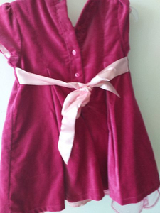 Used Girls dress velvet unworn 24 month in Dubai, UAE