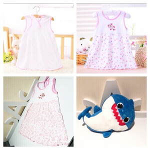 Used Dress 12M & baby Sharq 🎶 toy in Dubai, UAE